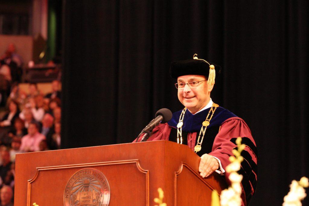 President+Aoun+recognized+for+lifetime+achievement+in+education
