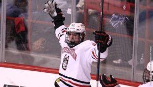 Men's hockey gets first win