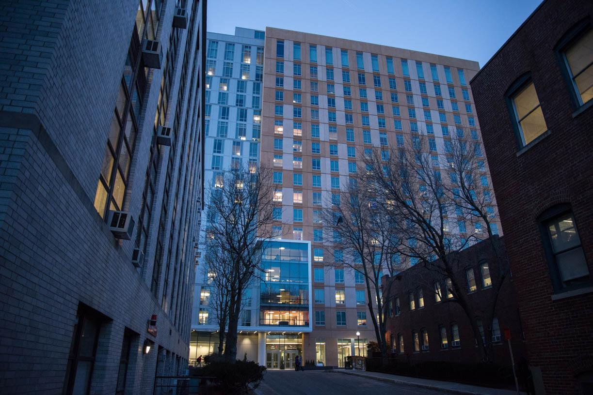 East Village, a luxury residence hall, opened in January 2015. / File photo by Scotty Schenck