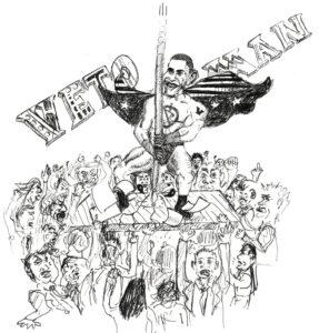 Cartoon: Veto-man holds congressional power