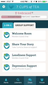 7 Cups of Tea app offers anonymous therapy