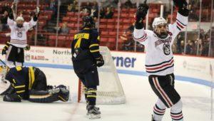 Men's hockey keeps rolling, sweep Merrimack