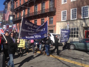 Supporters gather for Sanders at State House