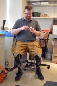 Brian Fountaine prints 3-D prosthetics