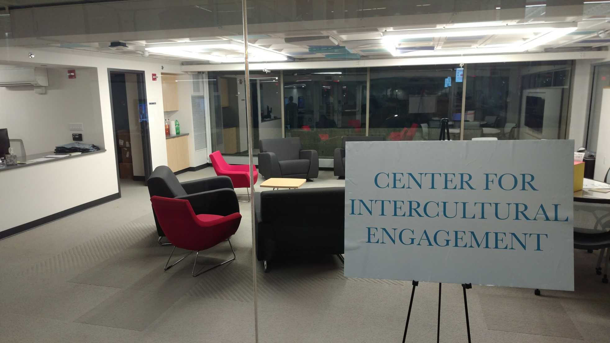 The town hall meeting was held in the Center for Intercultural Engagement.