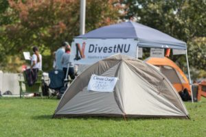 [UPDATED] Divestment student group occupies Centennial Common