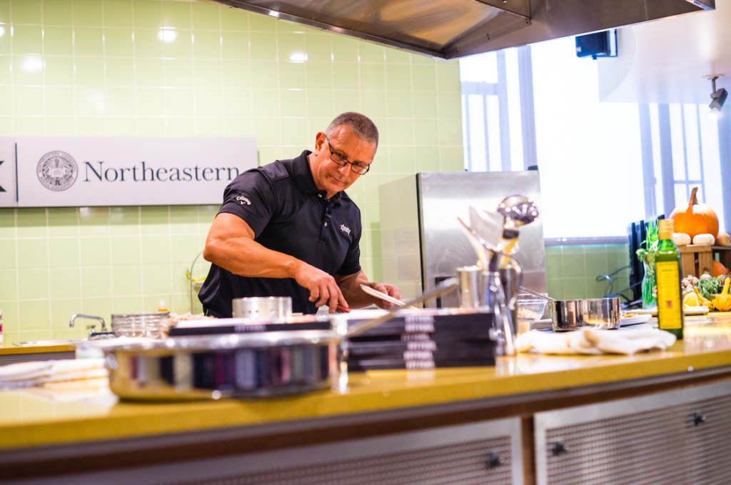 Celebrity Chef Robert Irvine Shows Off Skills In Xhibition