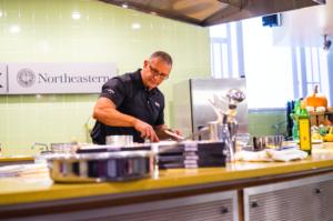 Celebrity chef Robert Irvine shows off skills in Xhibition Kitchen