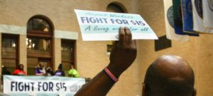 Boston workers push for $15 wages