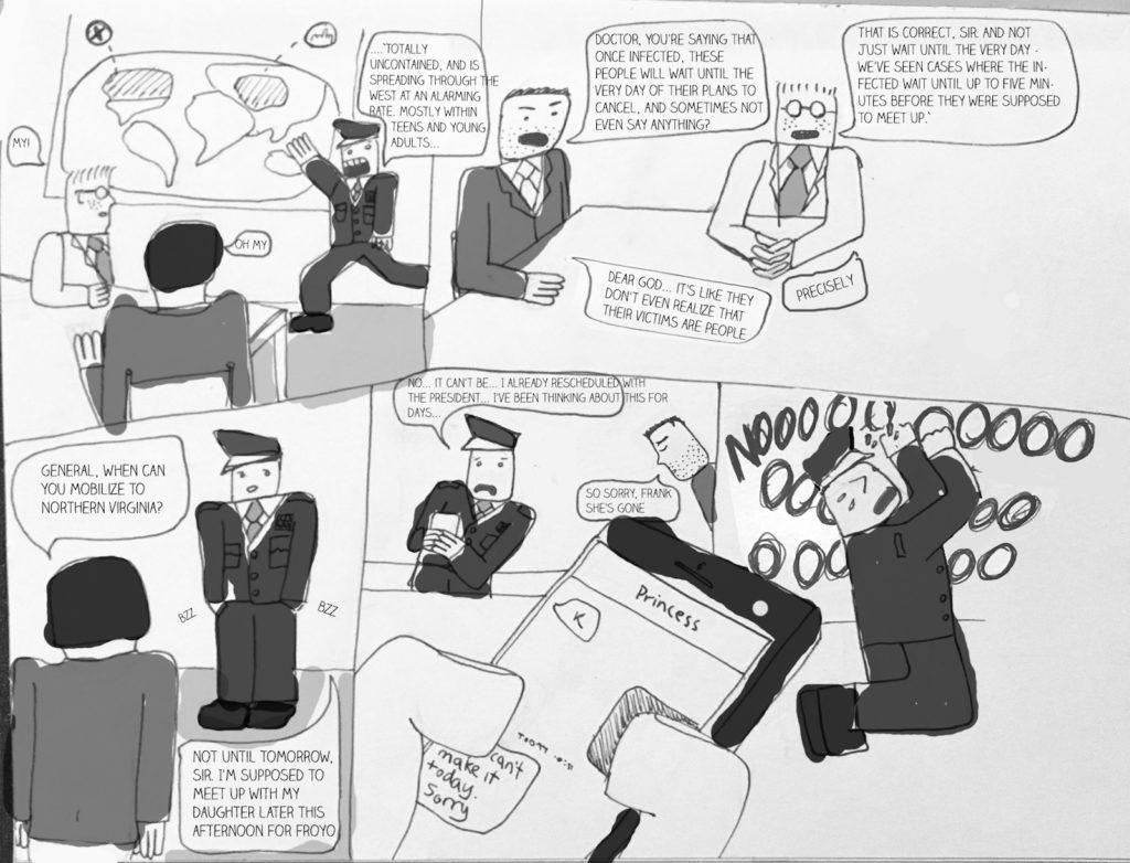 Cartoon: Virus spreads, causing mass plan cancellations - The