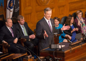 Baker discusses economy, schools in State of the Commonwealth address