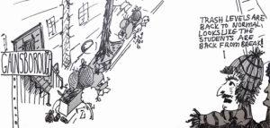 Cartoon: Trashy Students