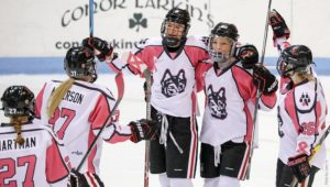 Women's hockey sweeps UConn