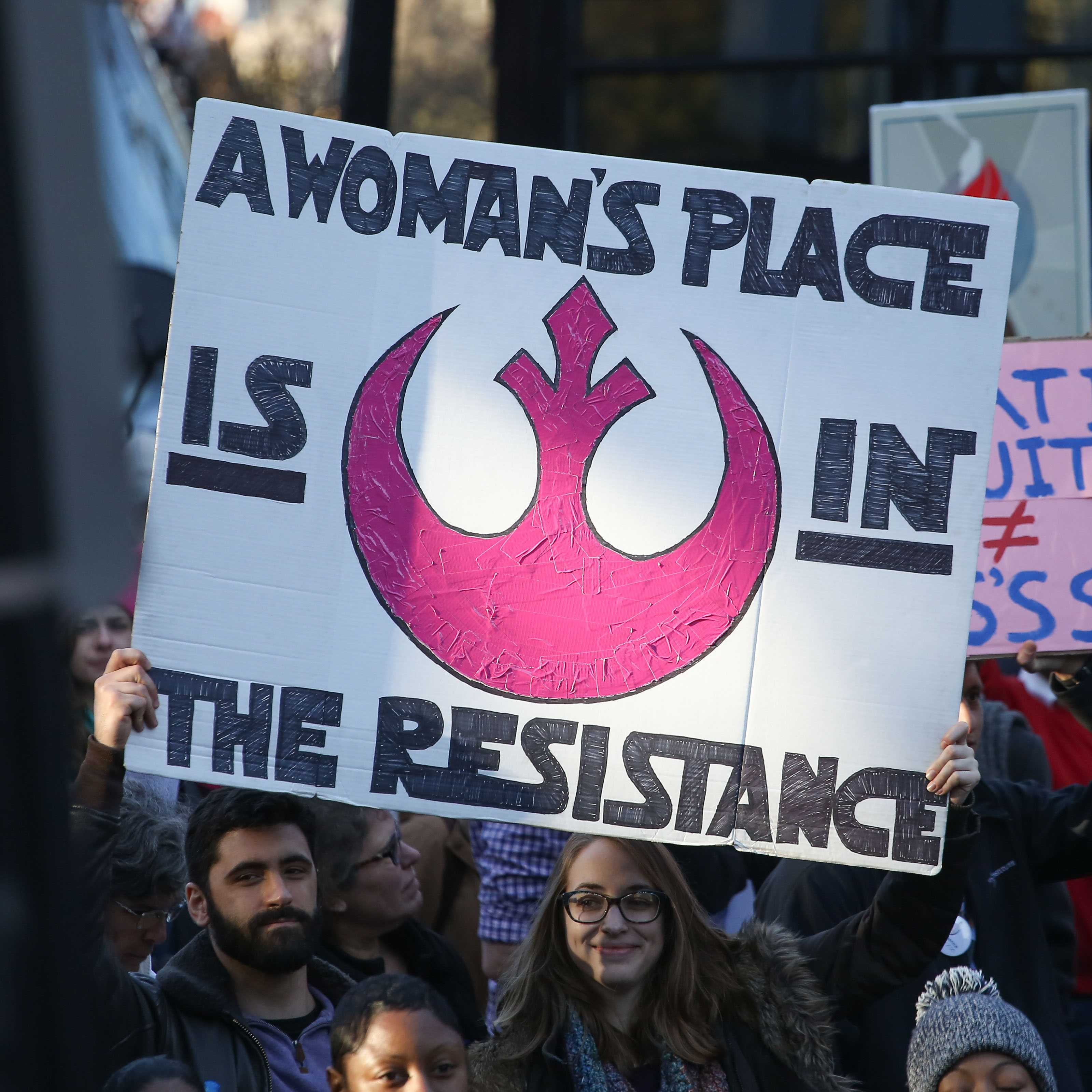 In+the+wake+of+Carrie+Fisher%27s+passing%2C+many+participants+of+women%27s+marches+across+the+world+referenced+the+bravery+and+hope+of+the+Star+Wars+franchise+in+their+posters+and+signs.