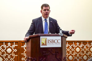 Mayor Walsh defends immigrants, attacks Trump at Roxbury mosque