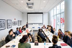 Students learn poetry in community workshop