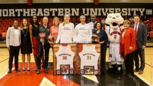 Women's hoops honors seniors Sally, Schnare