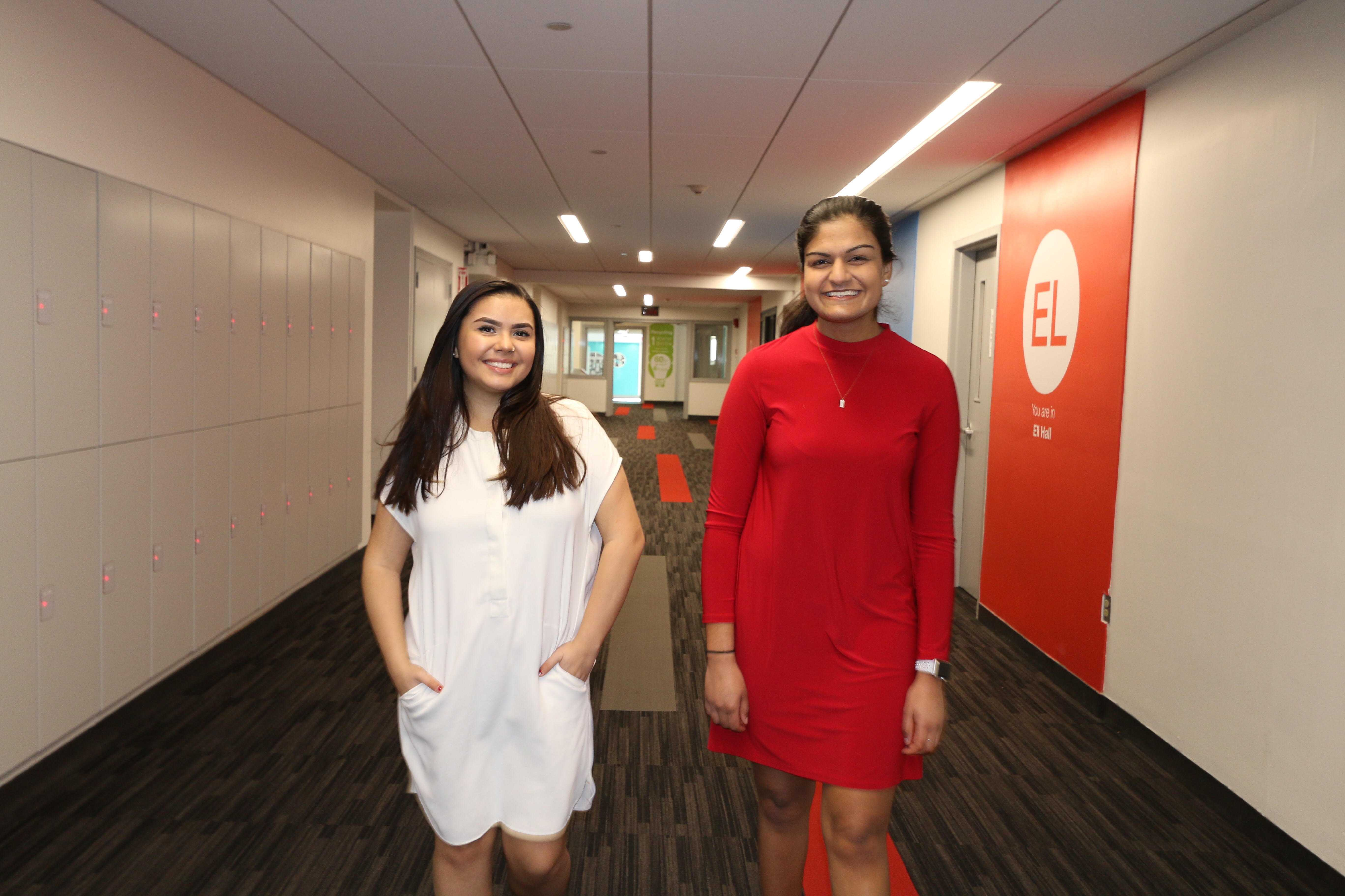 Suchira Sharma (left) currently serves as the SGA executive vice president and Paulina Ruiz is the vice president of student affairs. They will assume their new positions in May./Photo courtesy Suchira + Paulina: