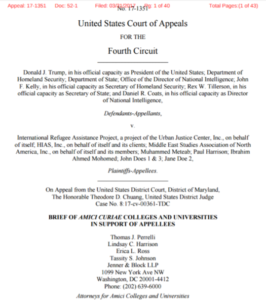 Northeastern files amicus brief against Trump's second immigration order