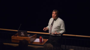 Northeastern professor talks climate change at aquarium
