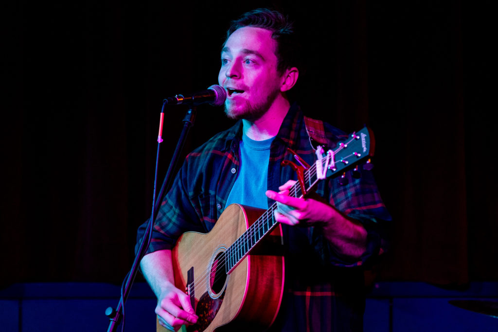 Mark Giladay Jr. a Northeastern graduate came back to perform at his old stomping grounds in Afterhours.