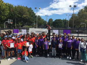 Community jumps into peace in Roxbury