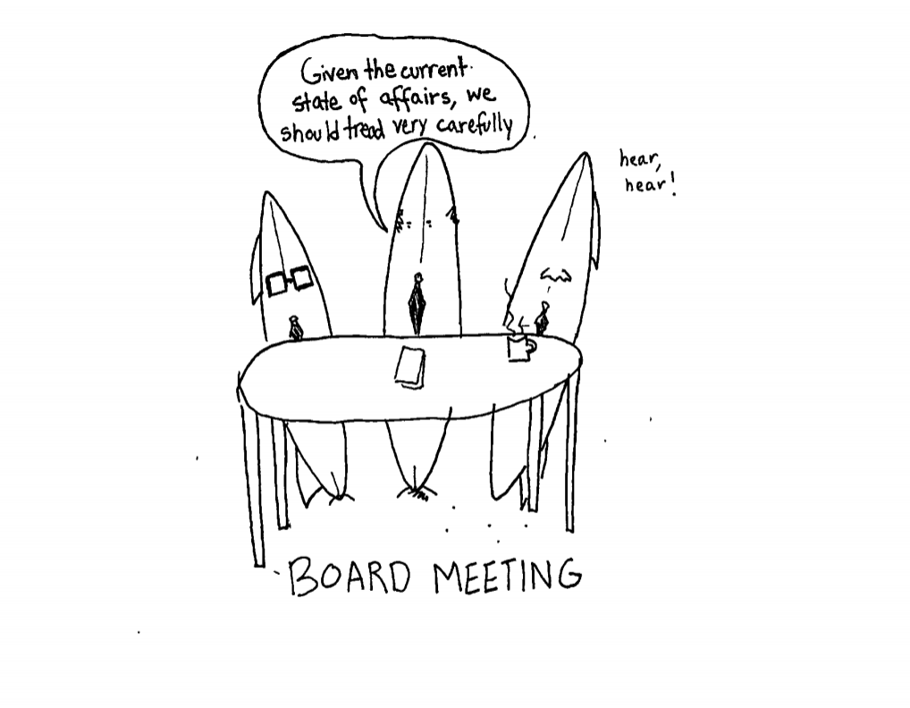 cartoon board meeting the huntington news