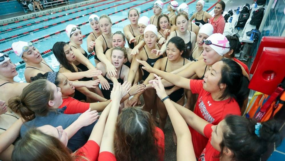 Swimming and diving team shines in win versus Wagner