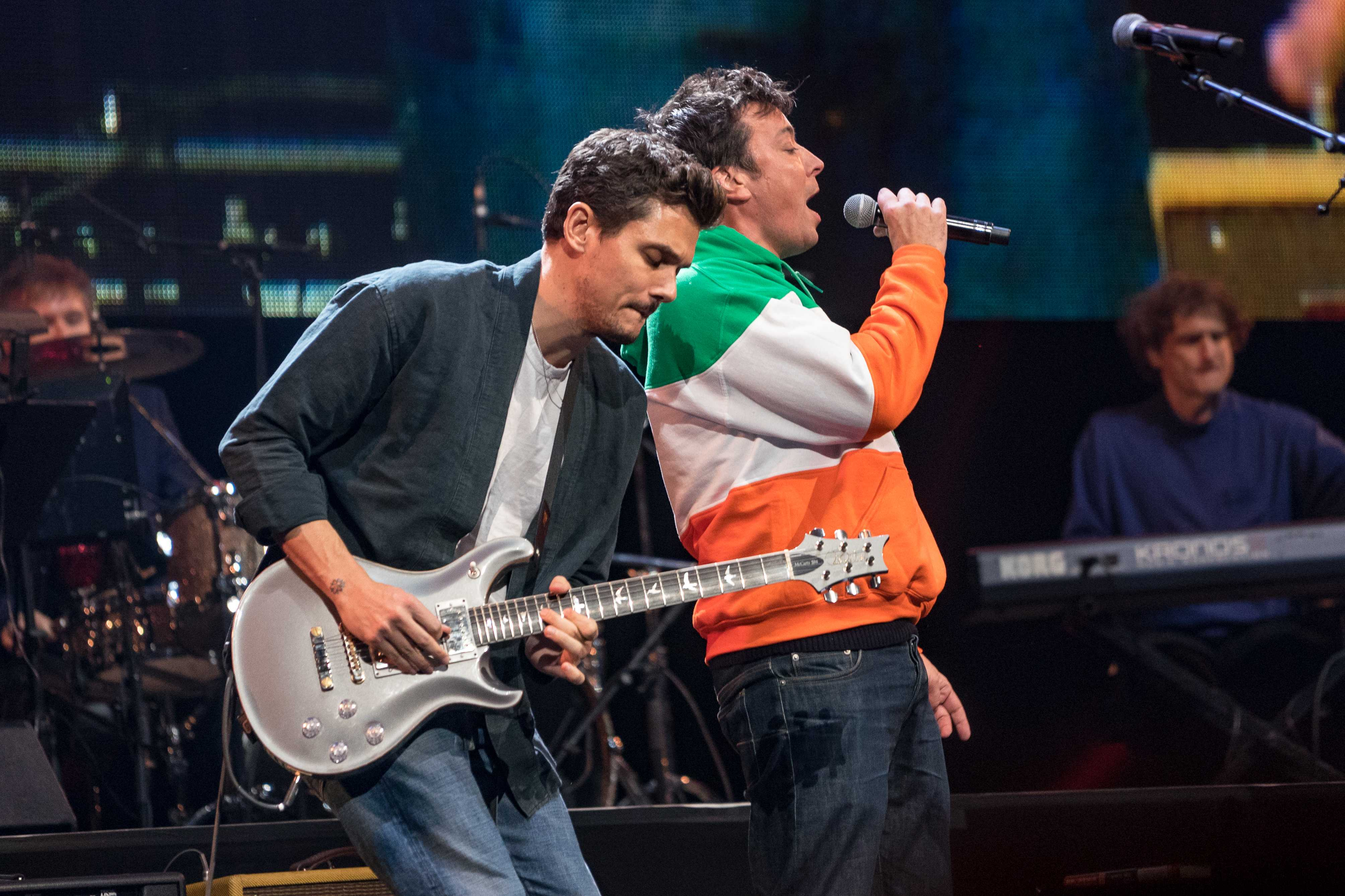 John Mayer and Jimmy Fallon