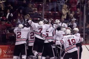 Men's hockey sweeps UMass Lowell in road-home series