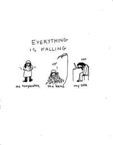Cartoon: Everything is falling