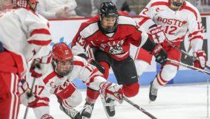 Men's hockey dominates BU on the road