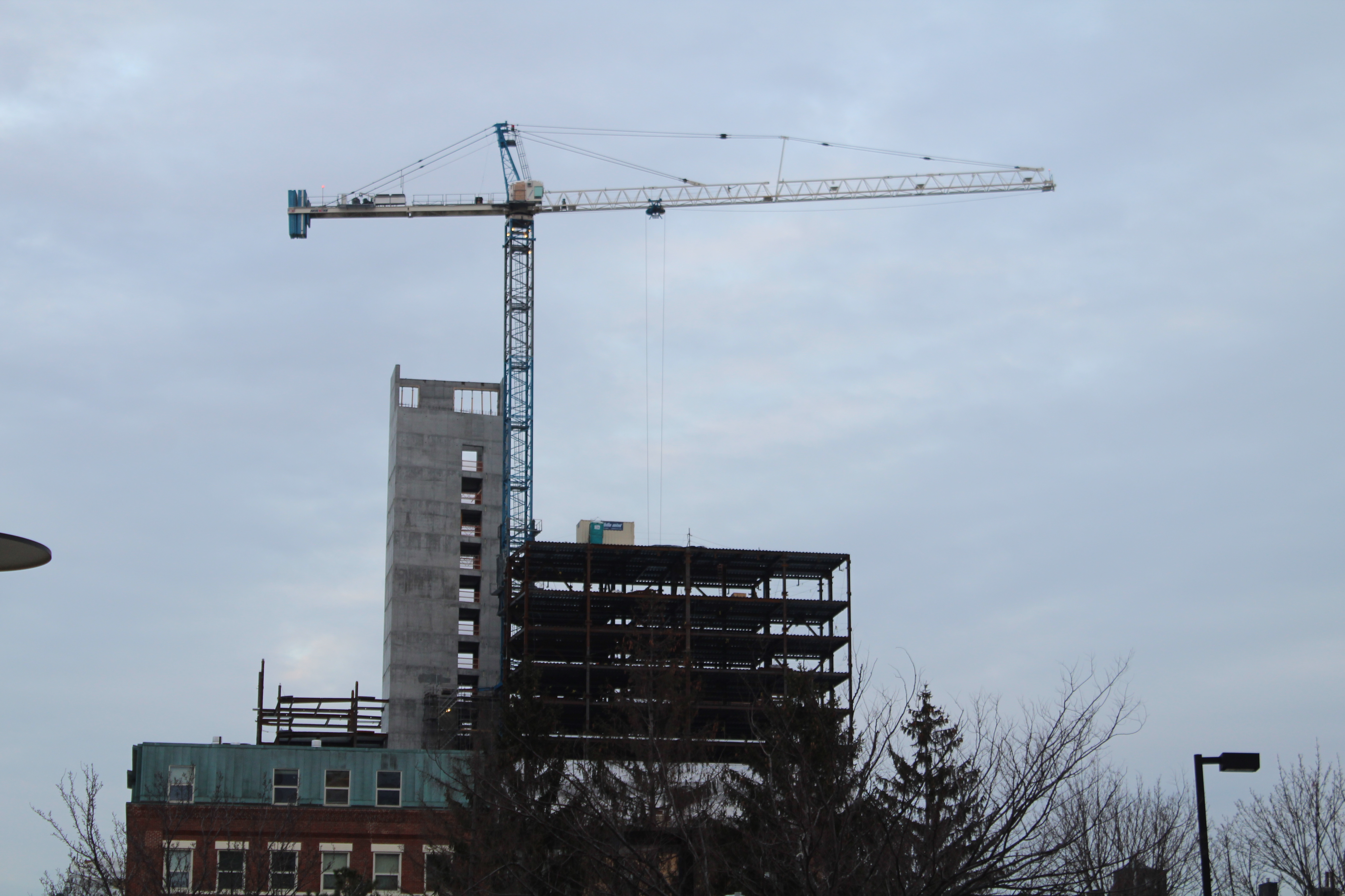 Northeastern University expands into the Roxbury community with new construction.