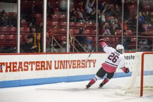 Men's hockey earns weekend sweep over UMaine, takes first in Hockey East