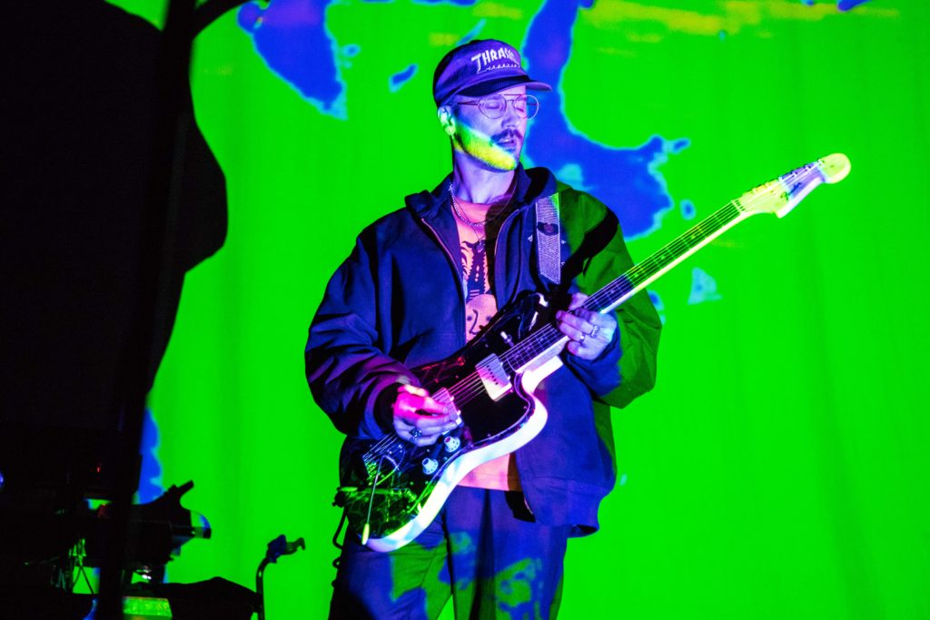 John+Gourley%2C+Portugal.+The+Man%27s+lead+singer+and+guitarist%2C+sings+a+song+from+the+band%27s+latest+album%2C+%22Woodstock.%22+%2F+Photo+by+Riley+Robinson