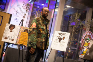 Black Male Artist Collective showcases artwork in the BPL