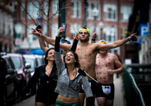 Cupid's Undie Run draws hundreds at Fenway Park