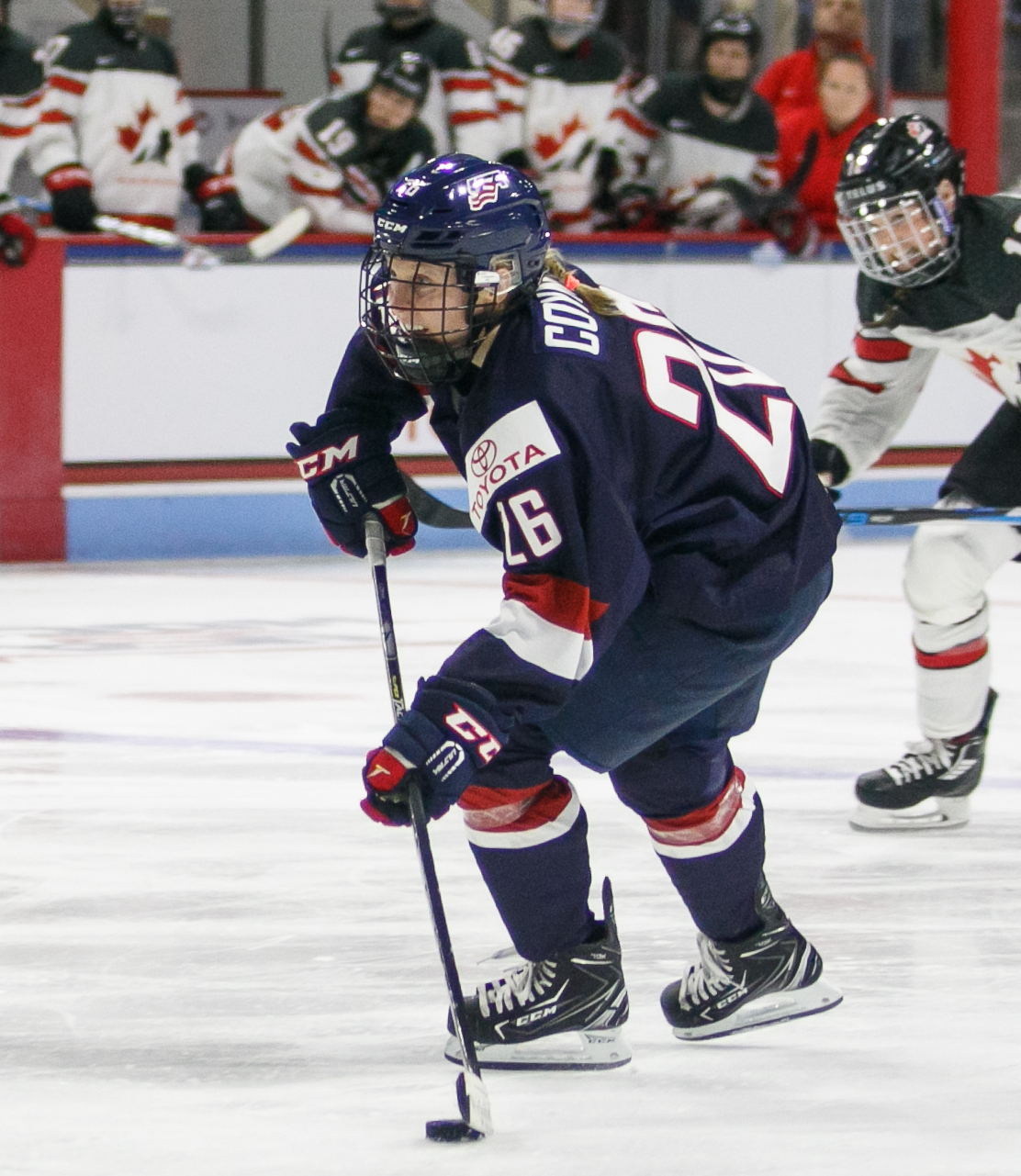 Team USA forward Kendall Coyne (26)
