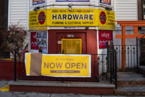 Mission Hill hardware store reopens months after shooting