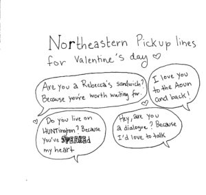Cartoon: Love is in the air at Northeastern