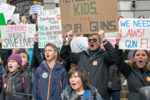 Students protest at Mass. State House for gun control
