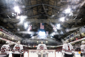 Men's hockey sweeps UMass, look ahead to TD Garden