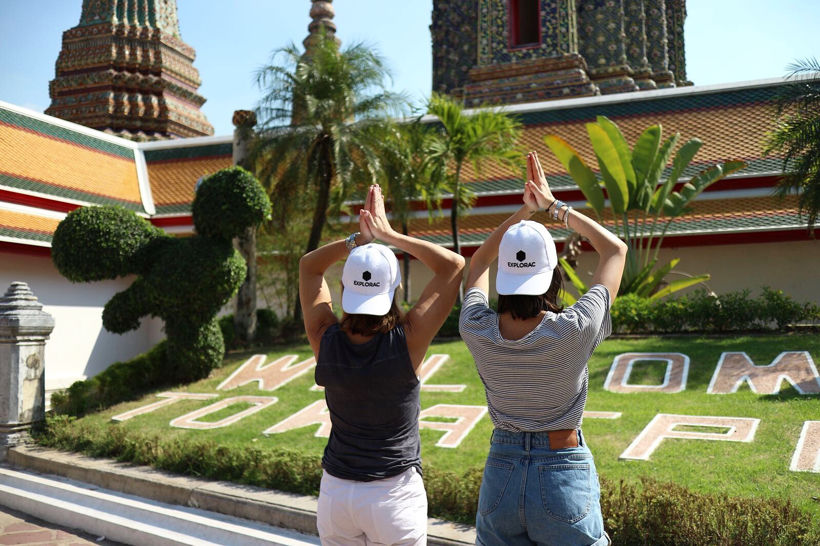 Two travelers represent EXPLORAC in Bangkok, Thailand. / Photo courtesy EXPLORAC