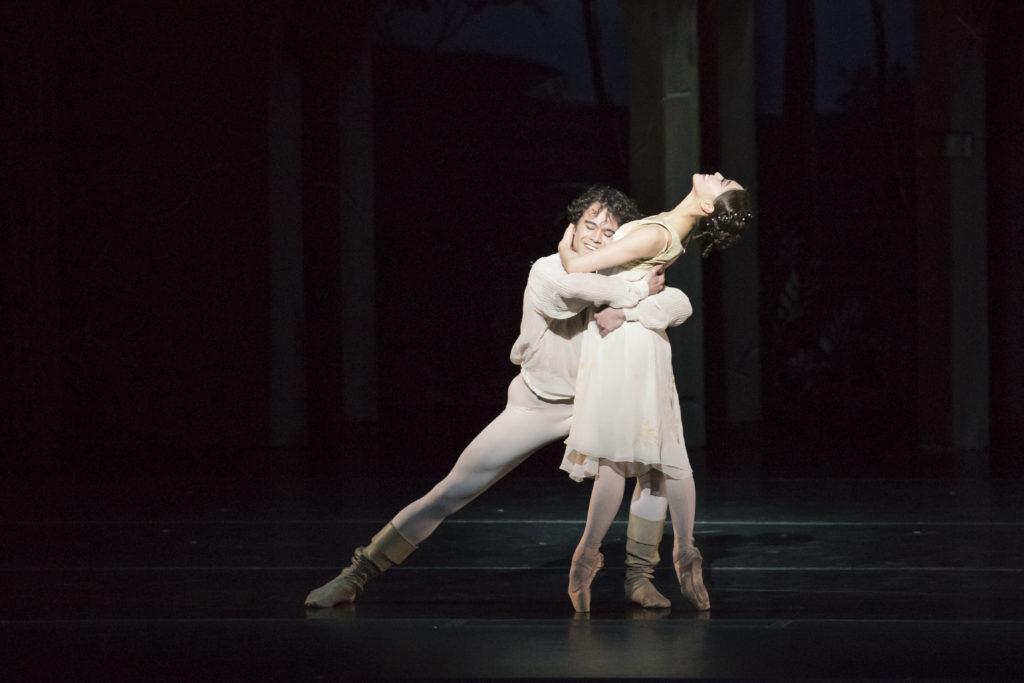 Misa+Kuranaga+and+Nelson+Madrigal+portray+Juliet+and+Romeo.+%2F+Photo+courtesy+Liza+Voll