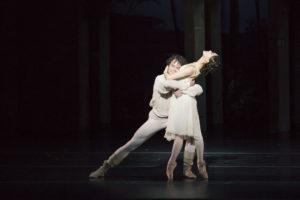 Misa Kuranaga and Nelson Madrigal portray Juliet and Romeo. / Photo courtesy Liza Voll
