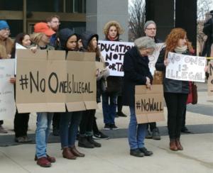 Educators protest deportations at City Hall Plaza