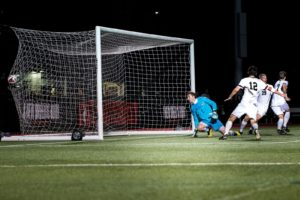 Huskies snap four-game losing streak with double-overtime goal