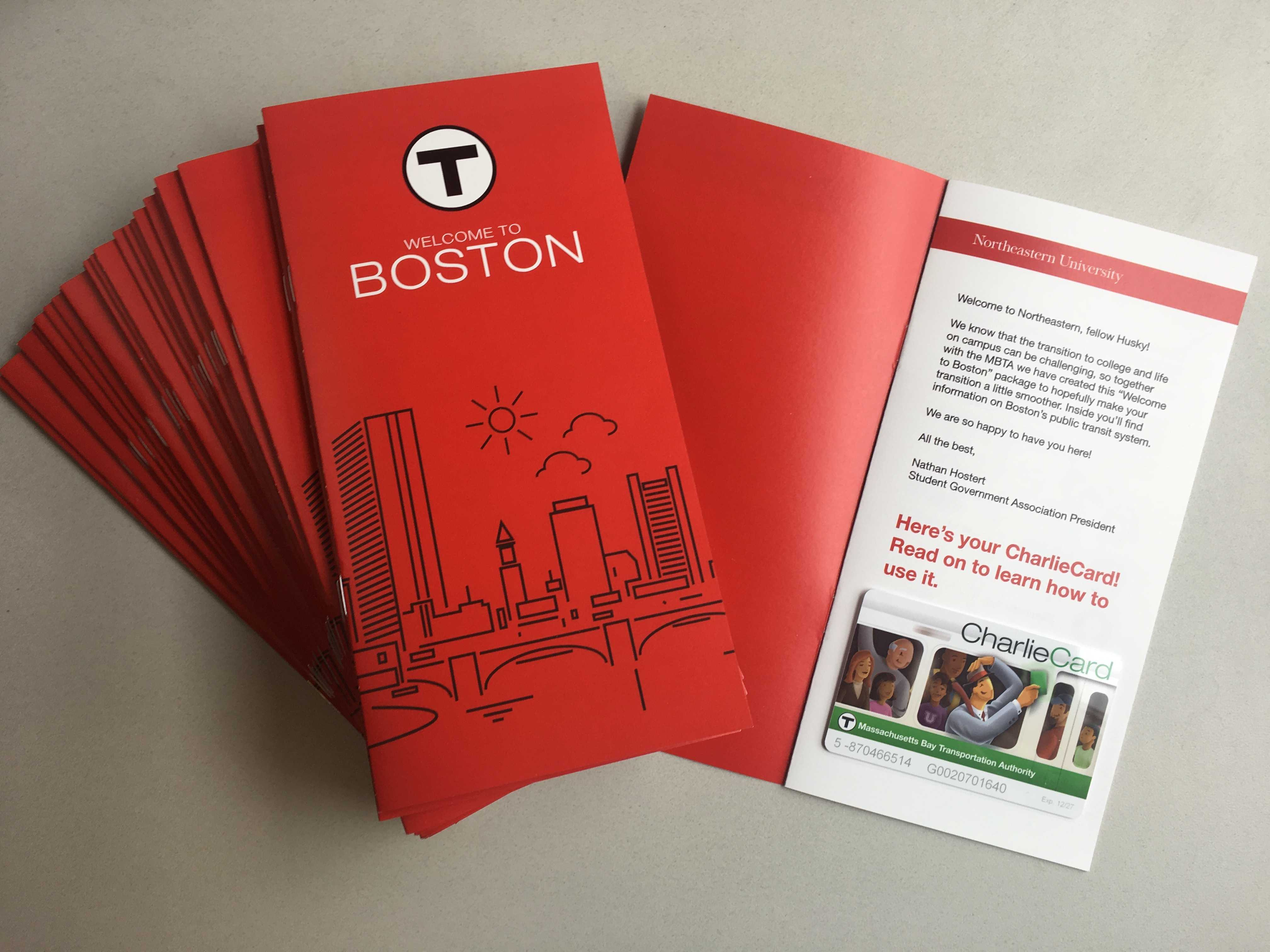 SGA created Welcome to Boston packages to help familiarize new students with the city.