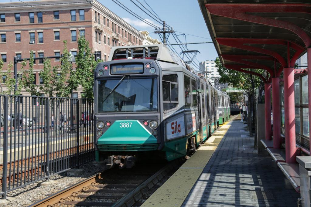 Changes to the MBTAs fare collection system will allow riders to board the green line at all doors. / Photo by Catherine Argyrople