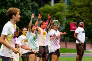 Northeastern color run not deterred by gloomy weather